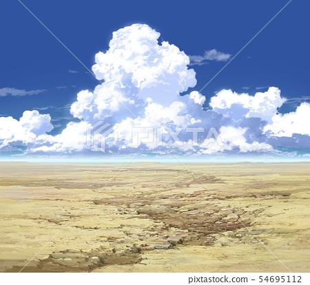 藍天和傳入的雲彩和原野02_09 54695112