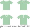반소매 T 셔츠 54695275