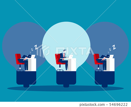 Business people and working efficiency. Concept 54696222
