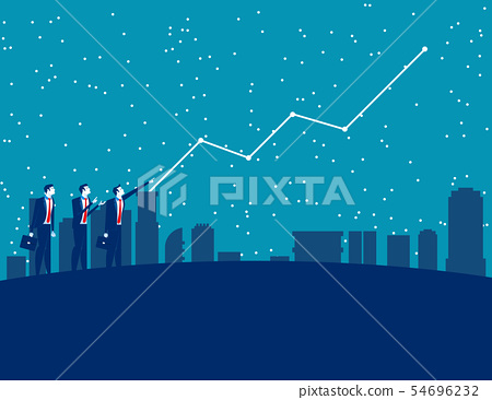 Business people and forecasting future profits. 54696232