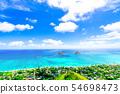 從夏威夷Oahu Lanikai藥盒足蹟的風景 54698473