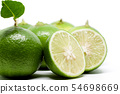 Green lime on white background 54698669