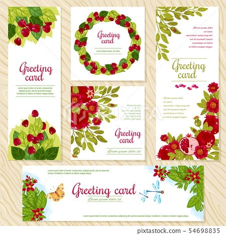 Floral Greeting Card Template For Flower Shops Stock
