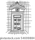 Old gate. Sketch vintage door. Vector illustration. 54699884