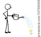꽃에 물을주는 사람 54700009