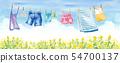 푸른 하늘 아래에서 놀고 빨래 여러가지 (스커트, 수건, 양말, 바지, 데님, 아동복, 캐미솔) 54700137