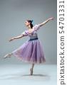 Contemporary ballroom dancer on grey studio background 54701331