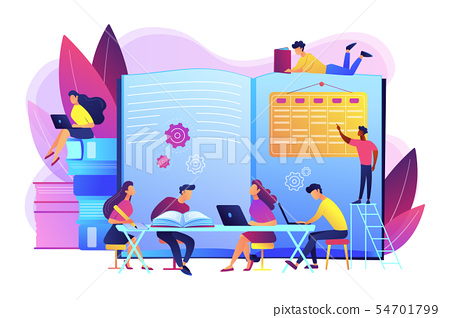 Revision week concept vector illustration 54701799