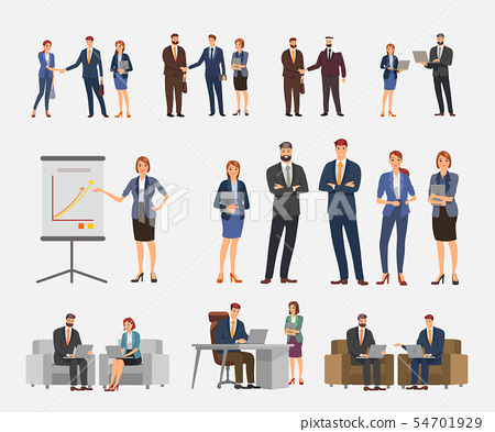 Business character design. Action set. 54701929