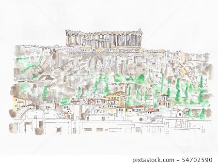 세계 유산의 거리 · 그리스 아테네 아크로 폴리스의 언덕 · 파르테논 신전 54702590