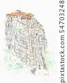 World Heritage Street-Greece-Meteora 54703248