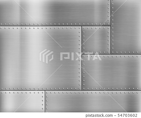 Metal textured background with rivets on the - Stock Illustration ...