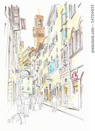 세계 유산의 거리 · 이탈리아 휘 렌쯔 구시가의 골목 54704935