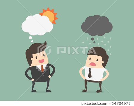 Two Businessman In Different Emotions. 54704973