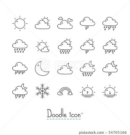 Doodle Weather Icons 54705166