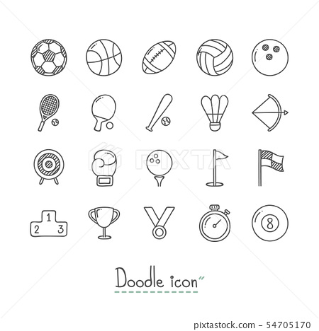 Doodle Sports Icons. 54705170