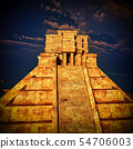 the stairs of Mayan temple 3d rendering 54706003