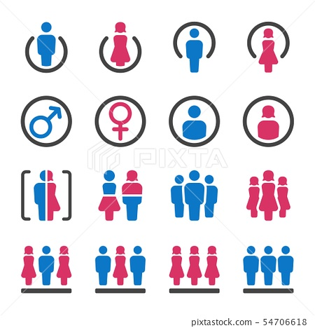 man and woman icon set 54706618