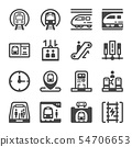 subway train icon set 54706653