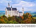 Castle Neuschwanstein in bavarian Alps, Germany 54706880