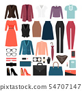 Businesswoman clothes and accessories 54707147