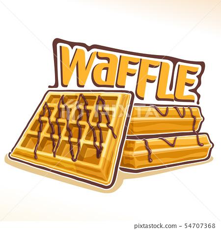 Vector logo for belgian Waffle 54707368