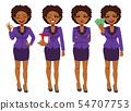 African American Black businesswoman standing 54707753