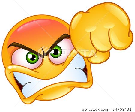 Punching emoticon 54708431