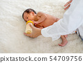 Asian mother give milk feeding with milk bottle  54709756