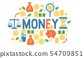 Money vector piggy bank pig box financial bank or money-box with investment savings and coins 54709851