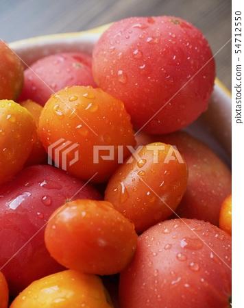 신선한 유기농 토마토와 방울 토마토 54712550