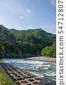 아카기 마치 선반 아래 부근의 토 네가와 군마현 시부 카와시 54712807