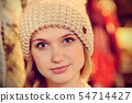 Young fair woman shopping in a department store 54714427