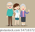 woman doctor and older patient happy 54716372