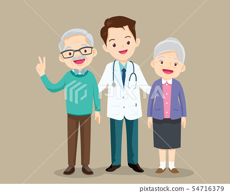 doctor and older patient 54716379