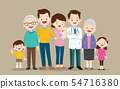 Doctor and big happy family set 54716380