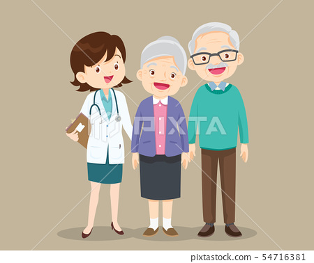 woman doctor and older patient 54716381