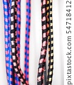 elastic rubber band rope cord colourful texture 54718412