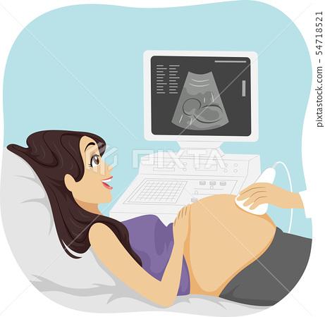 Teen Girl Young Prenatal Care Illustration 54718521