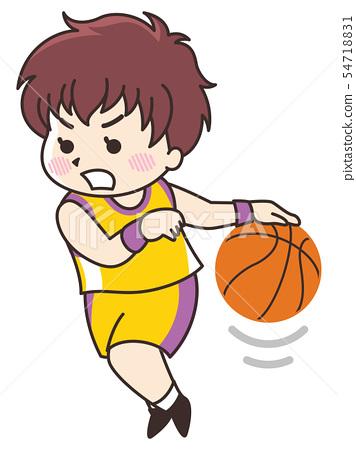 농구 선수의 여자 54718831