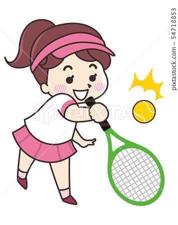 網球運動員的女人 54718853