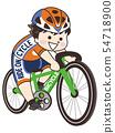 Bicyclist athlete men 54718900