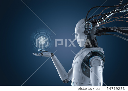 Robot with graphic display 54719228