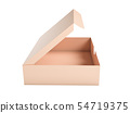 Flat brown paper box. Open carton. 3d rendering illustration isolated 54719375