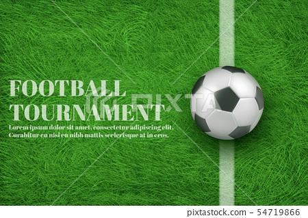 Football tournament 3d realistic vector banner 54719866