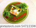 야채와 생선 테린 바질 소스 54722398
