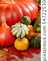 Thanksgiving Autumn Fall background with red, 54722530