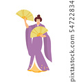 Dancing Japanese geisha vector 54722834
