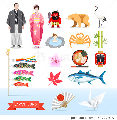 Japan icons. Vector illustrations. 54722915