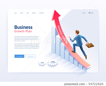 Business growth plan website UI/UX design. 54722920